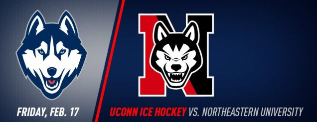 Image result for UConn Hockey vs. Northeastern Feb 17