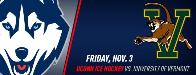 Image result for UConn Hockey vs. Vermont