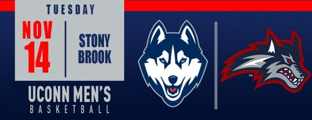 Image result for UCONN MEN'S BASKETBALL VS. STONY BROOK