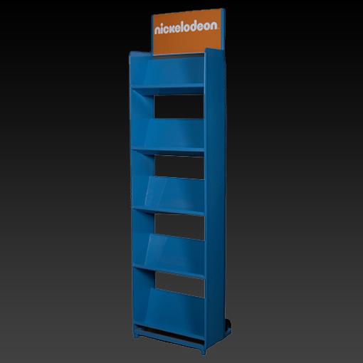 Metallic display stands for Nikelodeon