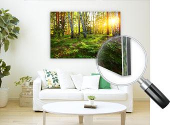 GalleryPrint, Acrylglas XT Transparent 3mm inkl. Weißdruck kaschiert auf eine Alu-Verbundplatte 3mm, inkl. Alumaxileiste als Aufhängung