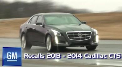 GM Recalls 2013 – 2014 Cadillac CTS