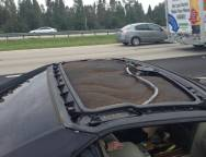 2005 Cadillac XLR – Roof Panel Detached while Driving