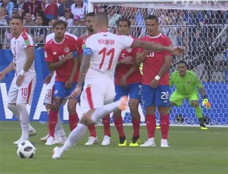 Alexander Kolarov mål Serbia VM frispark