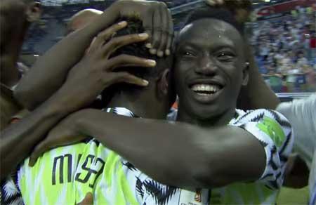 Nigeria seier Island jubel