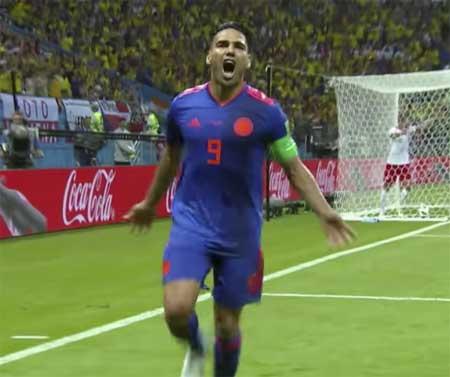 Radamel Falcao mål Polen Colombia