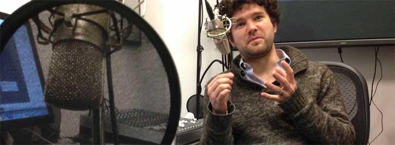 Podcast mikrofon opptak