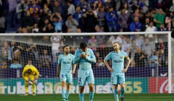 Barcelona Tidak Solid Levante Cetak Gol Setiap Serangan