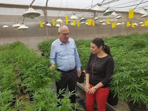 איילת שקד ואורי אריאל בחוות קנאביס רפואי
