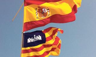 banderas-de-mallorca-y-españa-con-ñ-de-españa