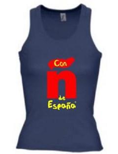 Camiseta-tirantes-mujer-azul-marino-de-españa
