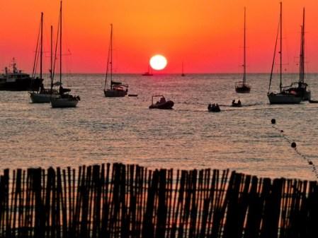 Puesta de sol con ñ de España Fomentera 3