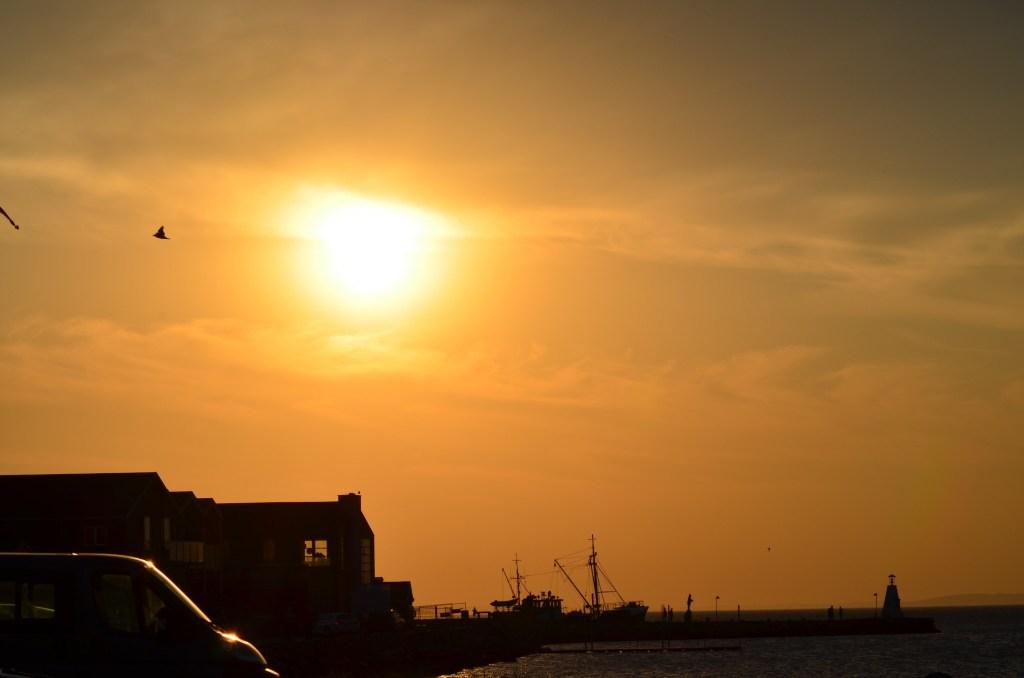 Sonnenuntergang in Bogense