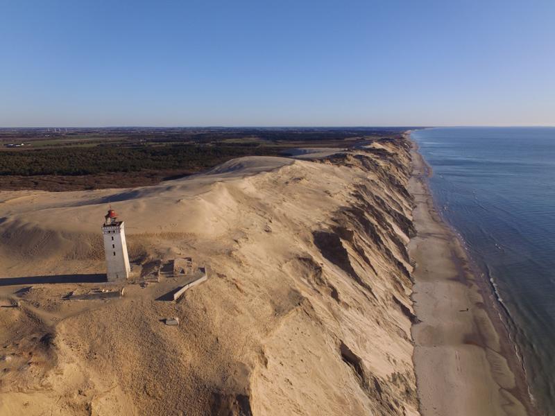Dänemark von oben : Rubjerg Knude