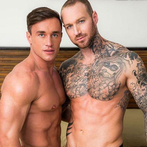 Lucas Entertainment :  レスリングのような激しい生の掘り合いの「Dylan James と Alexander Volkov」はセックス上級