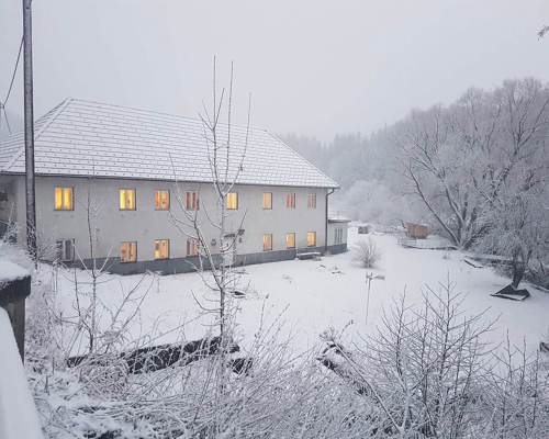 Die Edermühle im Winter