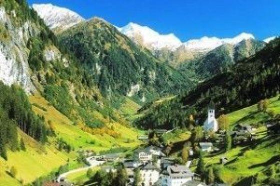 Vista de los Alpes Austriacos