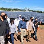 Inauguran planta de energía solar fotovoltaica Opico Power que se va a inyectar 5.2 megavatios a la red de energía eléctrica con energía limpia.