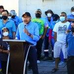 Presidente de ANDA supervisa calidad de agua potable en colonia Santa Eduviges, en Soyapango