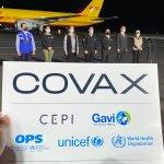 Llegan 140,400 vacunas más a El Salvador para apoyar en el combate del COVID19 a través del mecanismo COVAX
