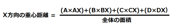 図心の求め方数式