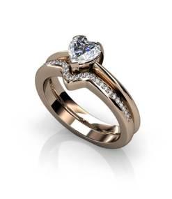 förlovningsringar hjärta