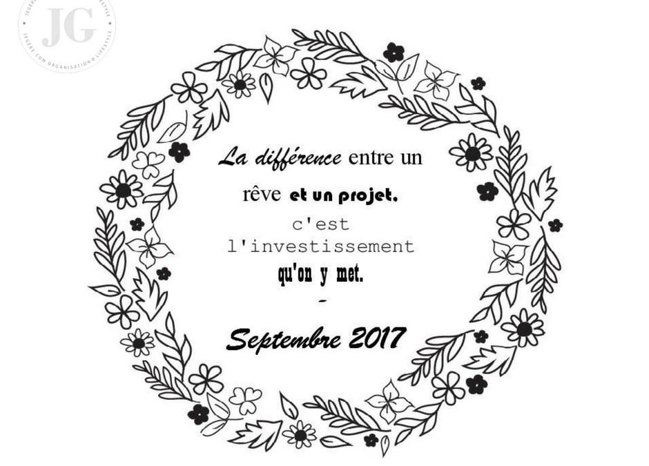 Organisation Septembre 2017