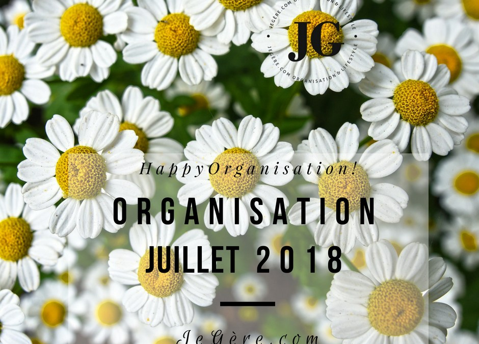 Organisation Juillet 2018