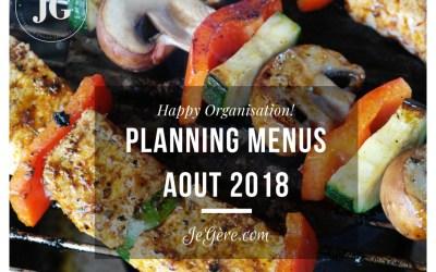 Planning Menus Aout 2018