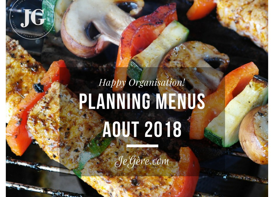 Planning Menus Aout 2018