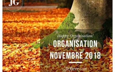 Organisation Novembre 2018