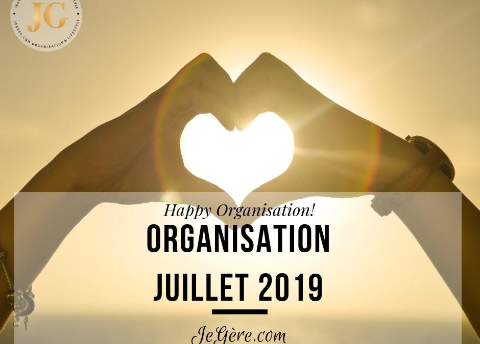 Organisation Juillet 2019