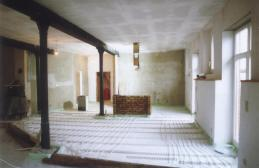 Fußbodenheizung im Rohbau