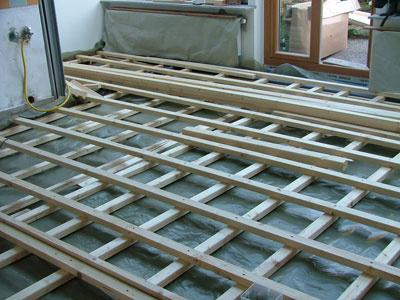 Unterkonstruktion mit einer Kreuzlattung