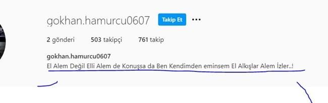 Gökhan Hamurcu instagram hesabı