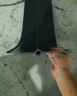 PVC วอเตอร์สต๊อป A8b 8 นิ้ว 3 ปุ่ม หนา 9.5 มม.