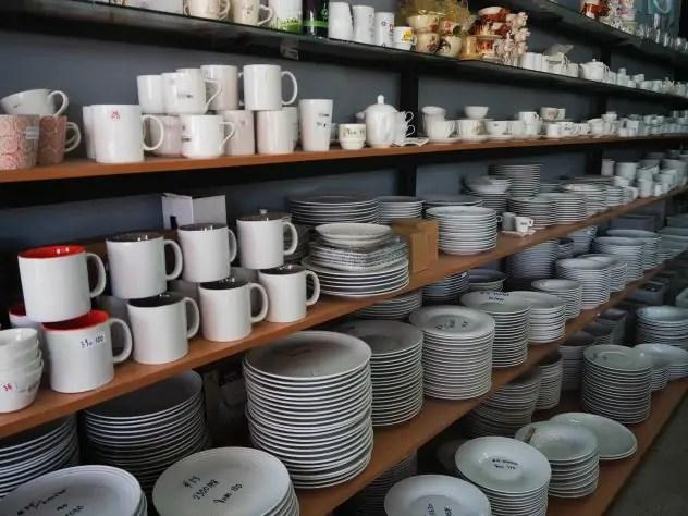ร้าน ถ้วย จาน ชาม อุปกรณ์ ร้านอาหาร
