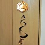 ハロウィンのスパイラル飾り|かぼちゃの型紙・図案が無料