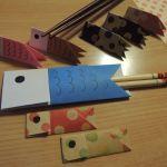 折り紙で作るこどもの日の簡単こいのぼり箸置きと箸袋の折り方・作り方
