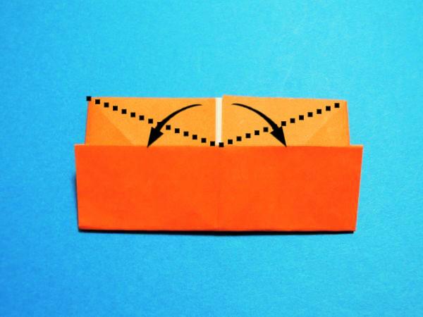 折り紙で作ったサンタのエッグスタンドの折り方と作り方|クリスマス飾り