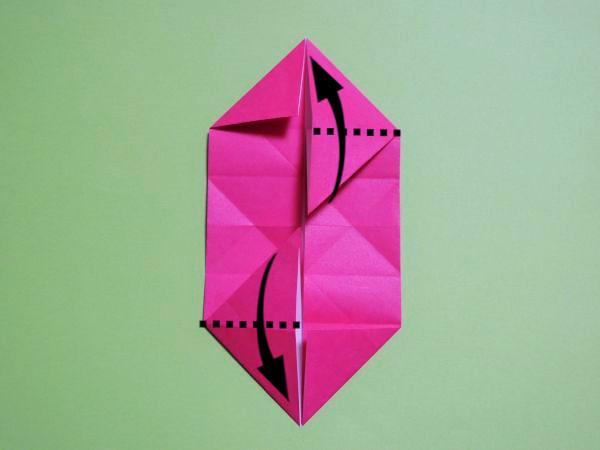 折り紙で立体的なハートの作り方|簡単な折り方画像あり