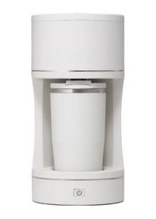 barouche(バルーシュ)コーヒーメーカー BR-01-WH デザインコーヒーメーカー 正面