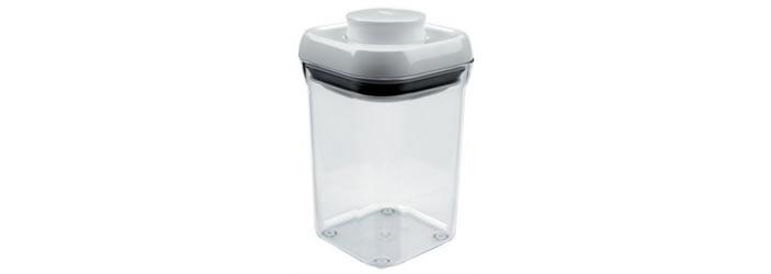 コーヒー豆の保存にはOXO(オクソー)のポップコンテナ スモールスクエアショート