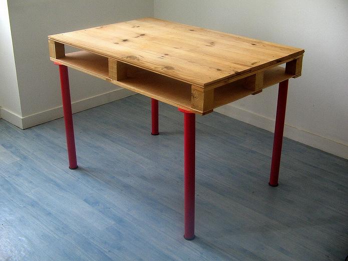 自由にデザイン!DIYでかわいいカフェテーブル・デスクの簡単な作り方 木製パレット