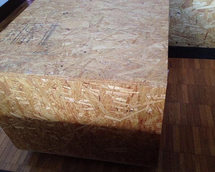 OSBで本棚・収納付きコーヒーテーブルをDIY 組み立て・作り方・仕上げ