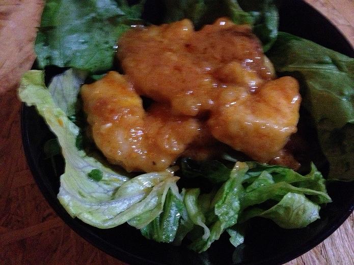 ヘルシーな鶏むね肉でしっかり味のオーロラソースレシピ001