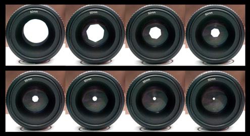 Diaframma fotografico - diverse aperture