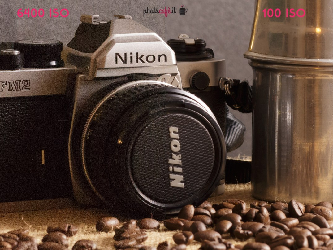 confronto ISO 100 6400 photocafè