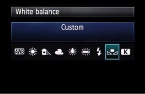 Bilanciamento del bianco personalizzato Canon