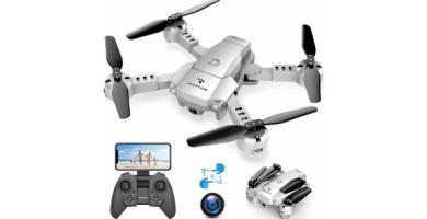 SNAPTAIN A10 Mini Drone con Cámara 720P HD Plegable FPV Control de Voz